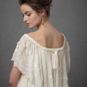 BHLDN Quillaree Dulcinea Floral Boho Tiered Gown